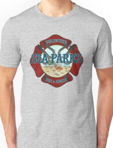 IT Crowd Inspired - Fire at Sea Parks - Sea Parks Volunteer Fire & Rescue - British Comedy Quotes Unisex T-Shirt