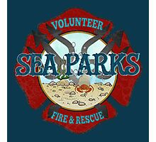IT Crowd Inspired - Fire at Sea Parks - Sea Parks Volunteer Fire & Rescue - British Comedy Quotes Photographic Print