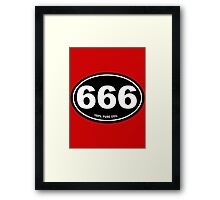 666 - Pure Evil Framed Print