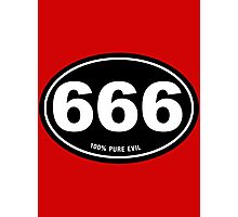 666 - Pure Evil Photographic Print