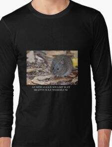 Swamp Rat White Text Long Sleeve T-Shirt
