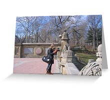 Photographer at Work in Central Park Greeting Card