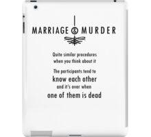 Marriage & Murder - black iPad Case/Skin