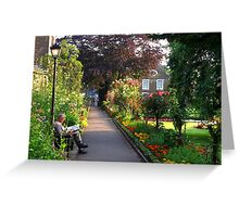 The Joys of Summer on a Saturday Morning - taken in a Park in Bakewell, Derbyshire Greeting Card