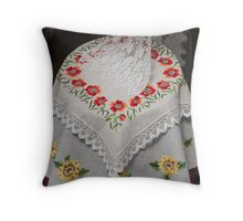 tambourine embroidery Throw Pillow