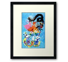 Battle Time!! - Compilation Framed Print