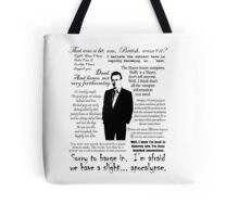 Giles in his own words - black Tote Bag
