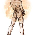 Male Nude in Boots by Roz McQuillan