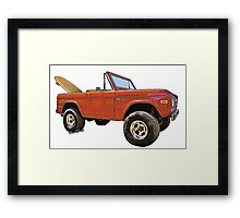 Surf Bronco Tee and Stuff from VivaChas! Framed Print