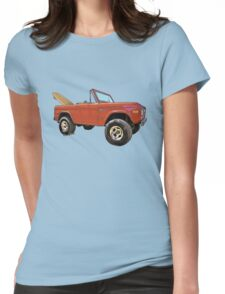 Surf Bronco Tee and Stuff from VivaChas! Womens Fitted T-Shirt