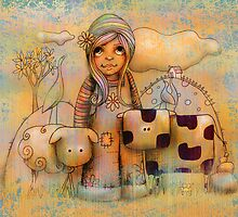 Mary had a little cow by © Karin Taylor