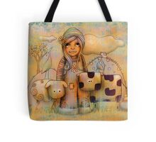Mary had a little cow Tote Bag