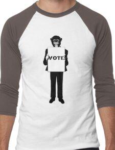 Monkey See, Monkey Do - Vote For Me! Men's Baseball ¾ T-Shirt