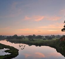 The blue river - Werribee Park by NadiaLe