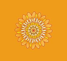 sunny flower mandala by resonanteye