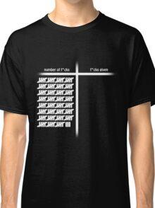no fucks given Classic T-Shirt