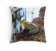 """Should I Jump"" Frog Throw Pillow"
