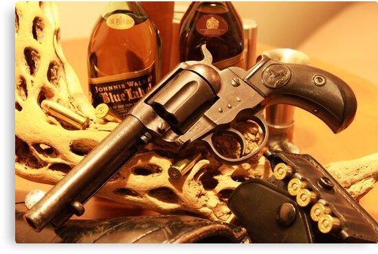 Antique Colt Lightning revolver photography by Vitaliy Gonikman