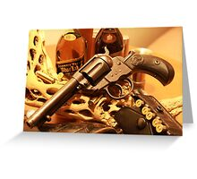 Antique Colt Lightning revolver photography Greeting Card