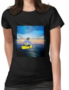 Kayak Man Womens Fitted T-Shirt
