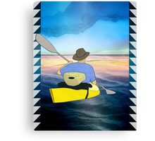 Kayak Man Canvas Print