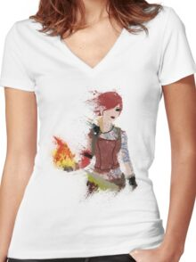 Lilith Women's Fitted V-Neck T-Shirt