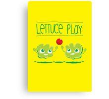 Lettuce Play Canvas Print