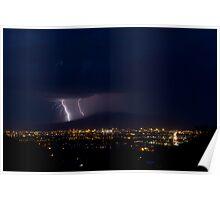 Lightning over Tucson Poster