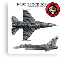120th Fighter Squadron F-16 Fighting Falcon Tiger Meet  Canvas Print