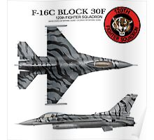 120th Fighter Squadron F-16 Fighting Falcon Tiger Meet  Poster