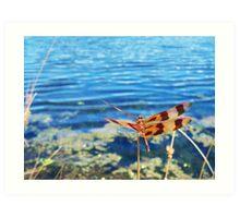 Red Dragon On The Lake Art Print