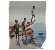 Lake Malawi boys Poster