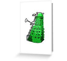 Green Dalek Greeting Card