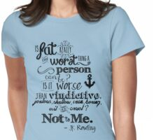 Is Fat the Worst We Can Be? Womens Fitted T-Shirt