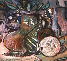 STILL LIFE WITH NUDE PHOTO(C1994) by Paul Romanowski
