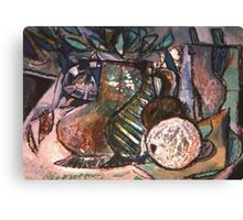 STILL LIFE WITH NUDE PHOTO(C1994) Canvas Print