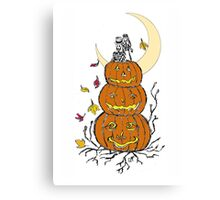 Halloween Wedding - Day of the Dead Canvas Print
