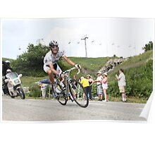 Andy Schleck Col de la Madeleine TdF 2010 Poster