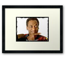 Get you a Drink? Bill Cosby Framed Print
