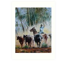 Outback Muster Art Print