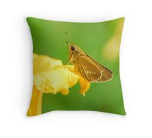 opening quietly Throw Pillow