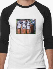Street Art by Stik  Men's Baseball ¾ T-Shirt
