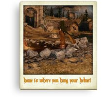 Home is where you hang your helmet - majula Canvas Print
