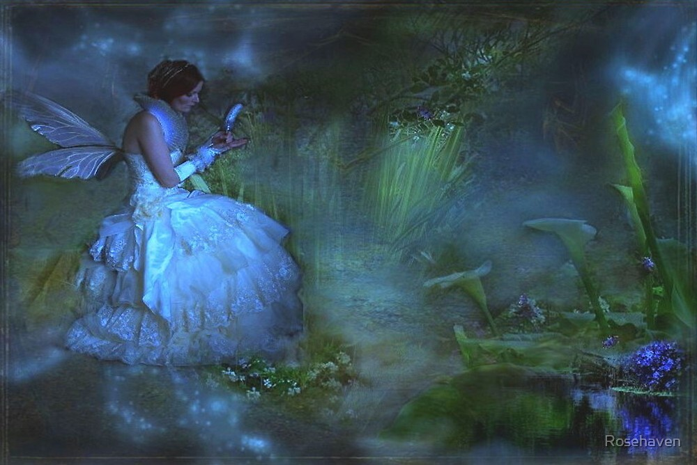 """She sat beside the Dream Pond and wrote to the Lavender Fairy ..."" by Rosehaven"