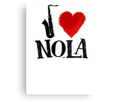 I Heart New Orleans (remix) by Tai's Tees Canvas Print
