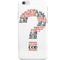 Epicurean Paradox Word Cloud by Tai's Tees iPhone Case/Skin