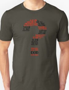 Epicurean Paradox Word Cloud by Tai's Tees Unisex T-Shirt