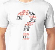 Epicurean Paradox Word Cloud by Tai's Tees Unisex T-Shirt