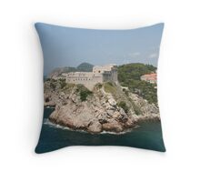 Fort by the Sea Throw Pillow