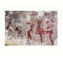 Ancient African Bushman Rock Art 01 Art Print